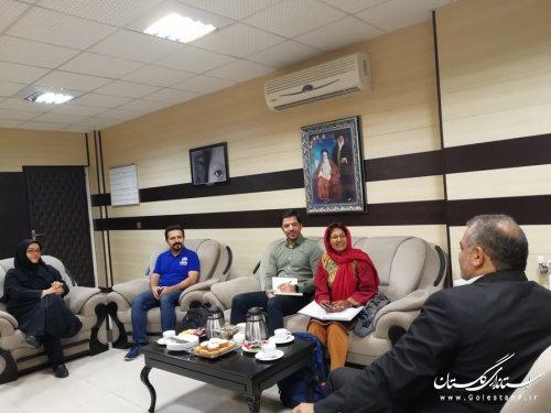 سفر رئیس دفتر نمایندگی مشهد کمیساریای عالی پناهندگان سازمان ملل متحد به گلستان