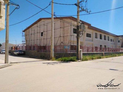 پیشرفت فیزیکی 52 و 79 درصدی پروژه احداث دو مدرسه در گرگان و گنبدکاووس