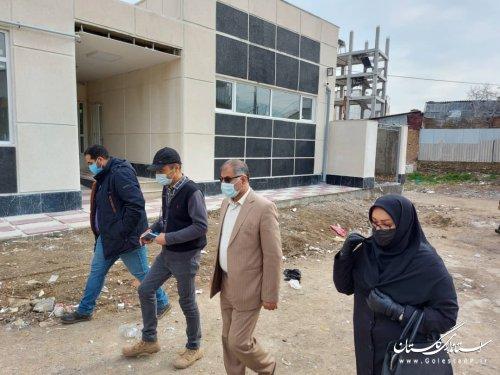 بازدید مدیرکل امور اتباع و مهاجرین خارجی از دو پروژه در حال تکمیل این اداره کل